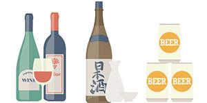 Wine / Japanese sake / Beer