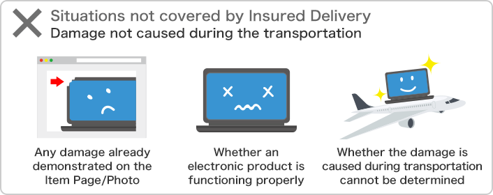 Situations not covered by Insured Delivery