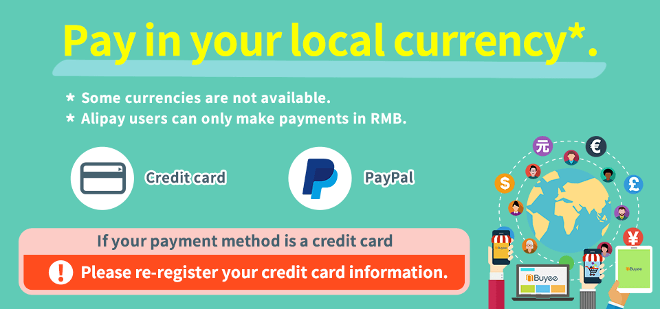 Pay in your local currency.