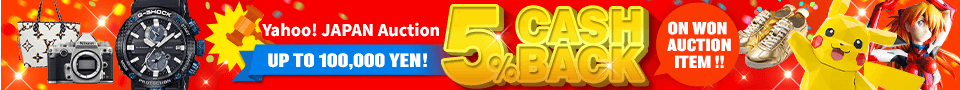 5% cashback on won auction items.