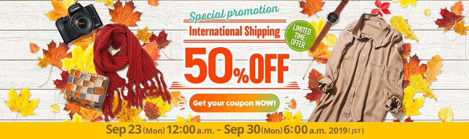 International Shipping 50% OFF !