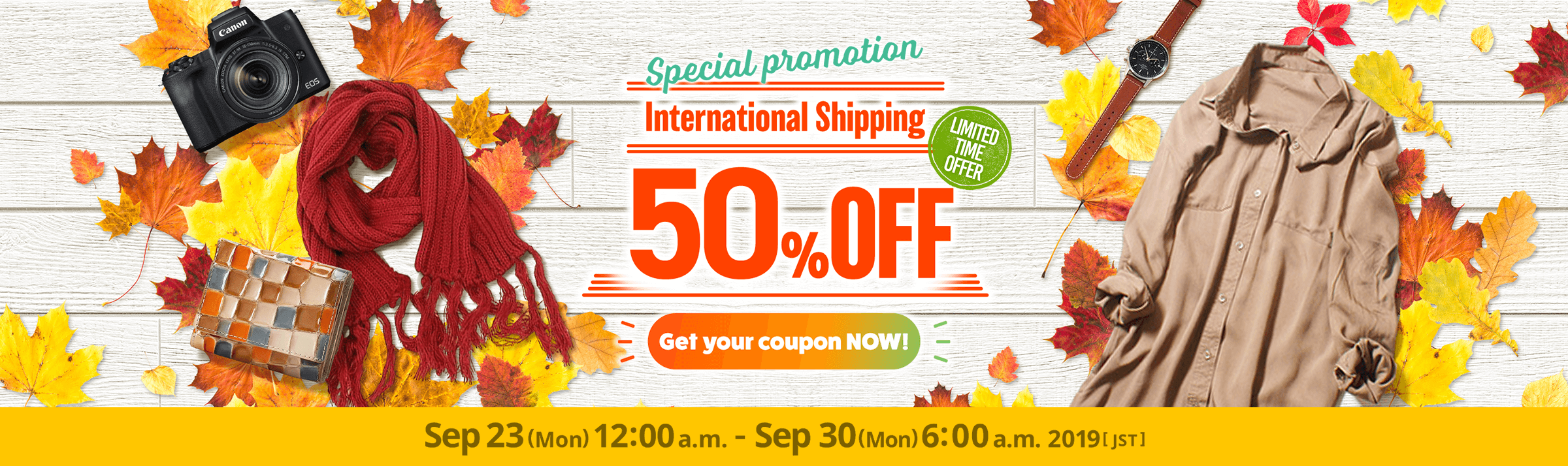 International Shipping 50% OFF !