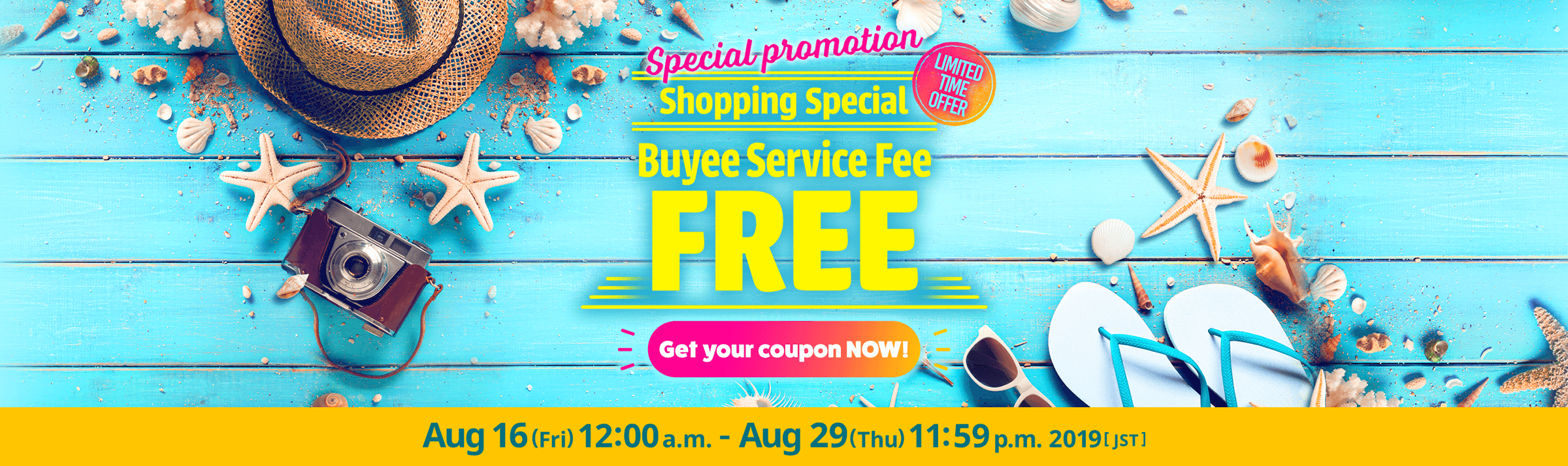 Shopping Special FREE Buyee Service Fee